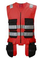 Helly Hansen Alna Cons Vest CL 1 77110 Rood/Antraciet