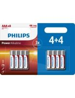 Philips Power Alkaline AAA/LR03 blister 4+4 (8 pack)