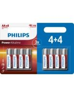 Philips Power Alkaline AA/LR6 blister 4+4 (8 pack)