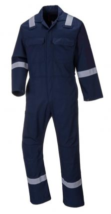 Multinorm overall 3106 Navy met reflectie/striping