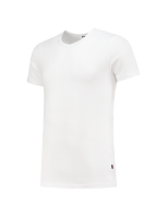 Tricorp 101012 T-Shirt Elastaan Slim Fit V Hals - White