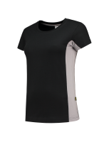 Tricorp 102003 T-Shirt Bicolor Dames - Black-Grey