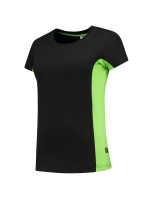 Tricorp 102003 T-Shirt Bicolor Dames - Black-Lime