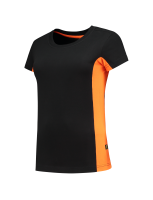 Tricorp 102003 T-Shirt Bicolor Dames - Black-Orange