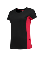 Tricorp 102003 T-Shirt Bicolor Dames - Black-Red