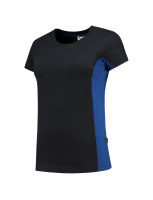 Tricorp 102003 T-Shirt Bicolor Dames - Navy-Royalblue