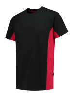 Tricorp 102004 T-Shirt Bicolor - Black-Red