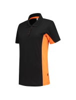 Tricorp 202003 Poloshirt Bicolor Dames - Black-Orange