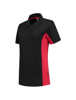 Tricorp 202003 Poloshirt Bicolor Dames - Black-Red