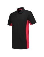 Tricorp 202004 Poloshirt Bicolor - Black-Red