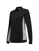 Tricorp 302002 Polosweater Bicolor Dames - Black-Grey