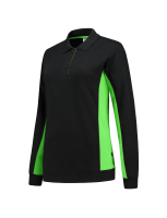 Tricorp 302002 Polosweater Bicolor Dames - Black-Lime
