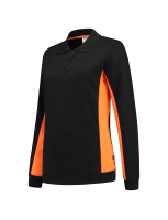 Tricorp 302002 Polosweater Bicolor Dames - Black-Orange