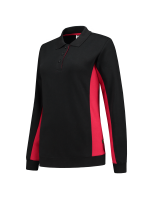 Tricorp 302002 Polosweater Bicolor Dames - Black-Red