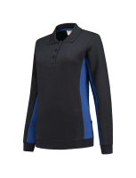 Tricorp 302002 Polosweater Bicolor Dames - Navy-Royalblue