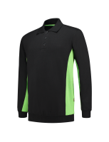 Tricorp 302003 Polosweater Bicolor - Black-Lime