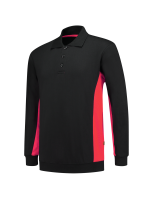 Tricorp 302003 Polosweater Bicolor - Black-Red