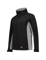 Tricorp 402008 Softshell Bicolor Dames - Black-Grey