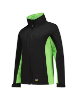 Tricorp 402008 Softshell Bicolor Dames - Black-Lime