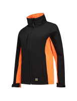 Tricorp 402008 Softshell Bicolor Dames - Black-Orange