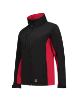 Tricorp 402008 Softshell Bicolor Dames - Black-Red