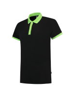 Tricorp 201002 Poloshirt Bicolor Slim Fit - Black-Lime
