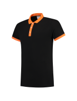 Tricorp 201002 Poloshirt Bicolor Slim Fit - Black-Orange