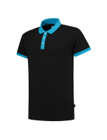 Tricorp 201002 Poloshirt Bicolor Slim Fit - Black-Turquoise