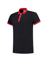 Tricorp 201002 Poloshirt Bicolor Slim Fit - Navy-Red