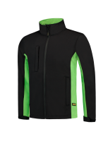 Tricorp 402002 Softshell Bicolor - Black-Lime
