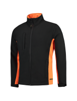 Tricorp 402002 Softshell Bicolor - Black-Orange