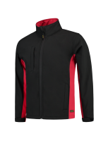 Tricorp 402002 Softshell Bicolor - Black-Red