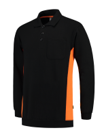 Tricorp 302001 Polosweater Bicolor Borstzak - Black-Orange