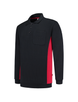 Tricorp 302001 Polosweater Bicolor Borstzak - Navy-Red