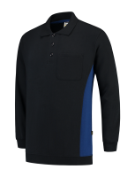 Tricorp 302001 Polosweater Bicolor Borstzak - Navy-Royalblue