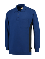 Tricorp 302001 Polosweater Bicolor Borstzak - Royalblue-Navy