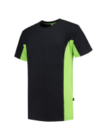 Tricorp 102002 T-Shirt Bicolor Borstzak - Black-Lime