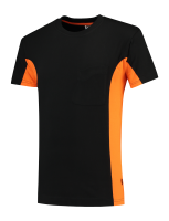 Tricorp 102002 T-Shirt Bicolor Borstzak - Black-Orange