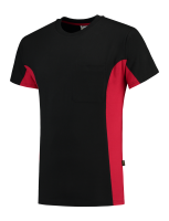 Tricorp 102002 T-Shirt Bicolor Borstzak - Black-Red