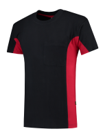 Tricorp 102002 T-Shirt Bicolor Borstzak - Navy-Red