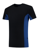 Tricorp 102002 T-Shirt Bicolor Borstzak - Navy-Royalblue