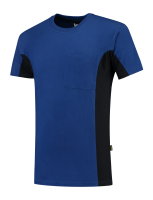 Tricorp 102002 T-Shirt Bicolor Borstzak - Royalblue-Navy