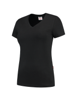 Tricorp 101008 T-Shirt V Hals Slim Fit Dames - Black