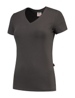 Tricorp 101008 T-Shirt V Hals Slim Fit Dames - Darkgrey