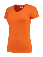 Tricorp 101008 T-Shirt V Hals Slim Fit Dames - Orange