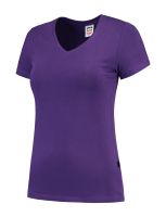 Tricorp 101008 T-Shirt V Hals Slim Fit Dames - Purple