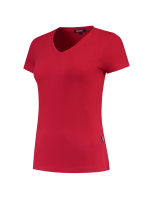 Tricorp 101008 T-Shirt V Hals Slim Fit Dames - Red