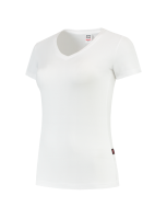Tricorp 101008 T-Shirt V Hals Slim Fit Dames - White